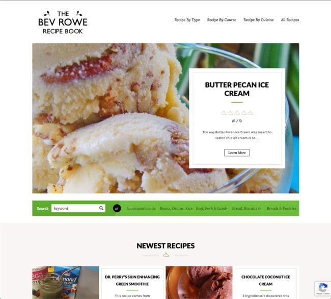 The Bev Rowe Recipe Book